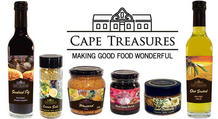 Cape Treasures logo and composite of products