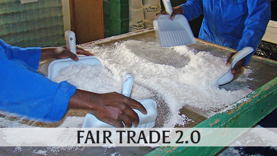 Image of Salt harvesters at Khoisan Natural Salt to illustrate the Fair Trade 2.0 topic
