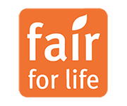 Fair for Life logo on the Turqle Trading's web page footer.